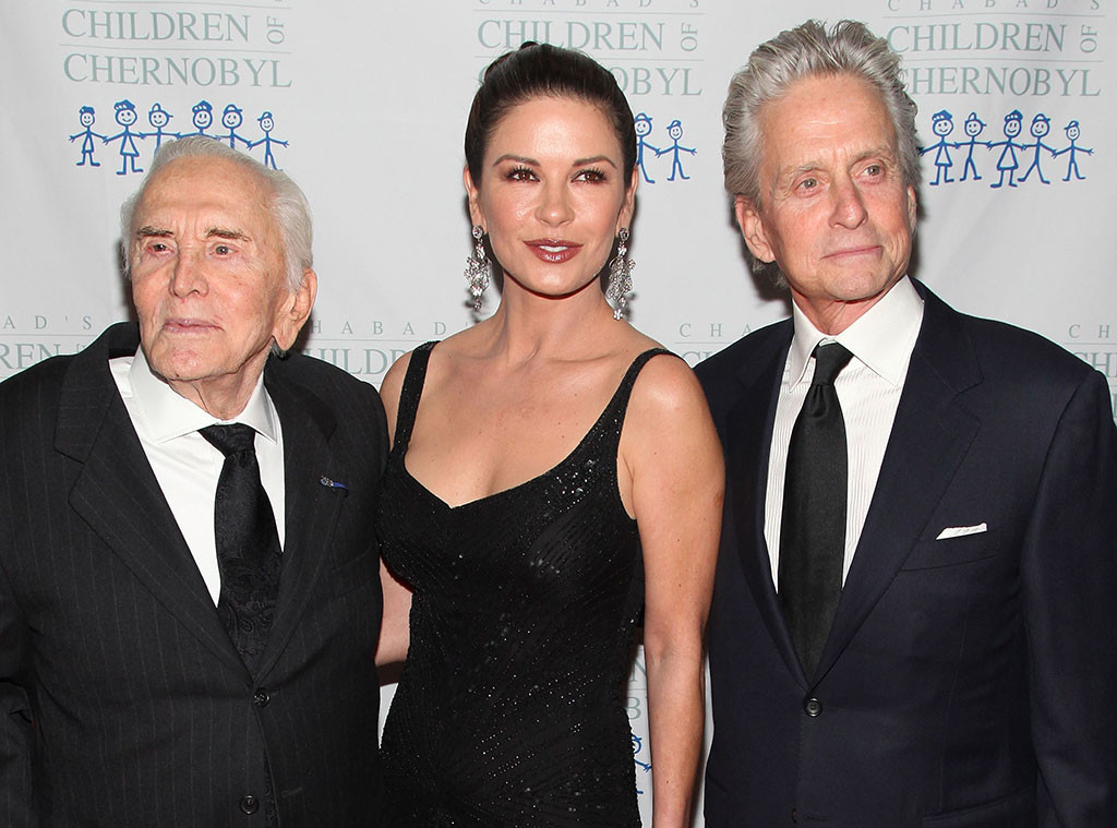Kirk Douglas, Catherine Zeta-Jones, Michael Dougles