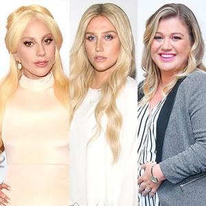 Lady Gaga, Kesha, Kelly Clarkson