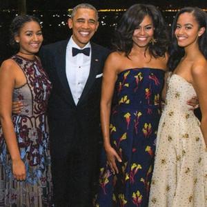 Obama Holiday Card, Barack Obama, Michelle Obama, Sasha Obama, Malia Obama