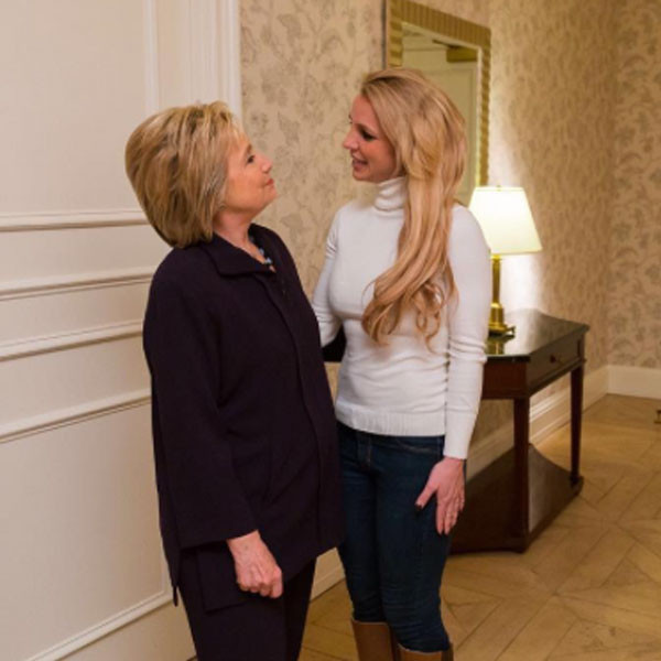 Britney Spears, Hillary Clinton
