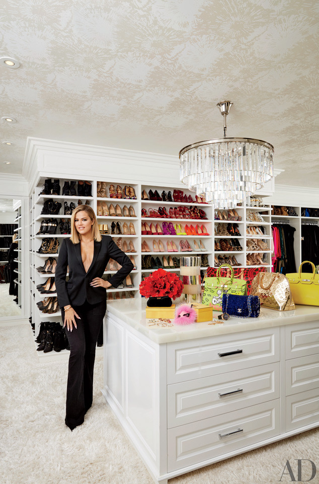 Khloe Kardashian Architectural Digest Real Estate Closet