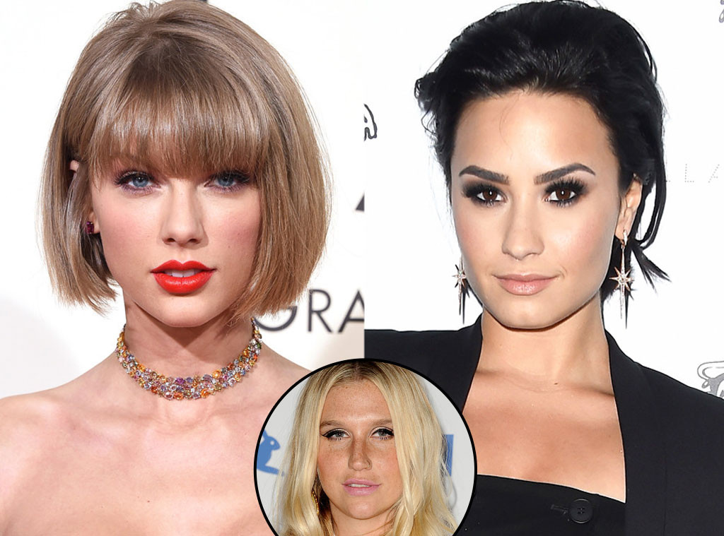 Taylor Swift, Demi Lovato, Kesha