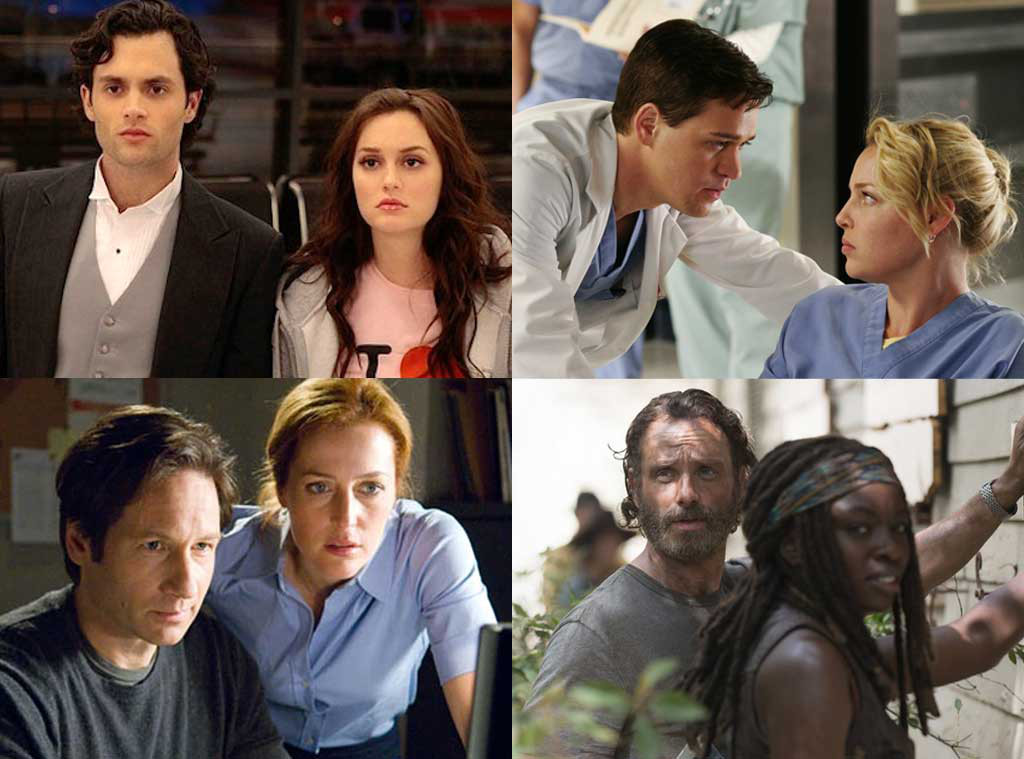 The Walking Dead, Grey's Anatomy, The X-Files, Gossip Girl, TV Couples