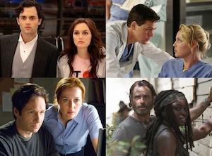 The Walking Dead, Grey's Anatomy, The X-Files, Gossip Girl, TV Couples