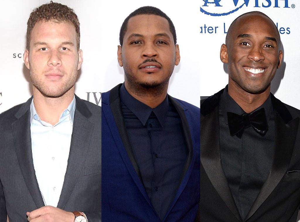Blake Griffin, Carmelo Anthony, Kobe Bryant