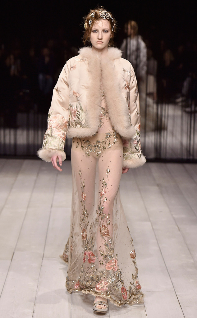 The Show Opened With Mannish Tailored Coats Variously Jacquard Pocket Watches Eyes And Erflies Lots Of Models Wore Leather