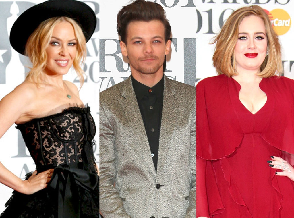 Kylie Minogue, Louis Tomlinson, Adele, BRIT Awards
