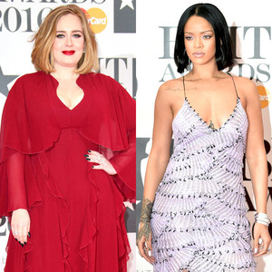 Adele, Rihanna, BRIT Awards