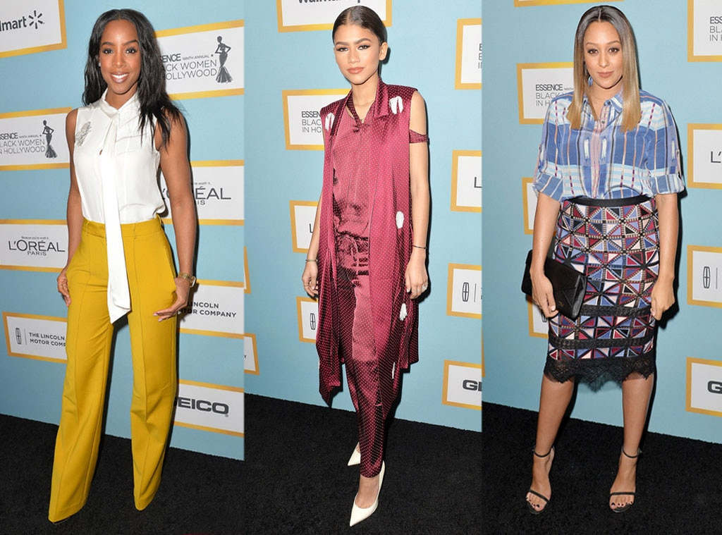 Kelly Rowland, Zendaya, Tia Mowry, 2016 ESSENCE Black Women In Hollywood awards luncheon