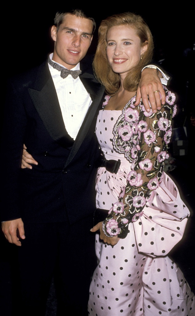 Tom Cruise & Mimi Rogers from Throwback: Couples at the ... Tom Cruise Schedule