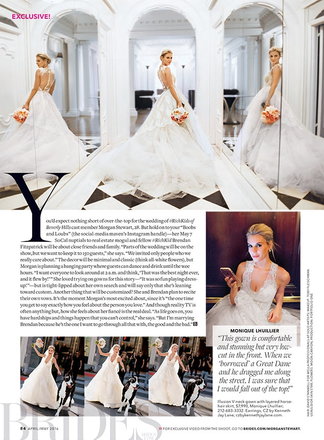 Richkids of beverly hills star morgan stewart talks for Beverly hills wedding dresses