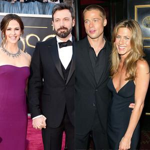 Ben Affleck, Jennifer Garner, Brad Pitt, Jennifer Aniston