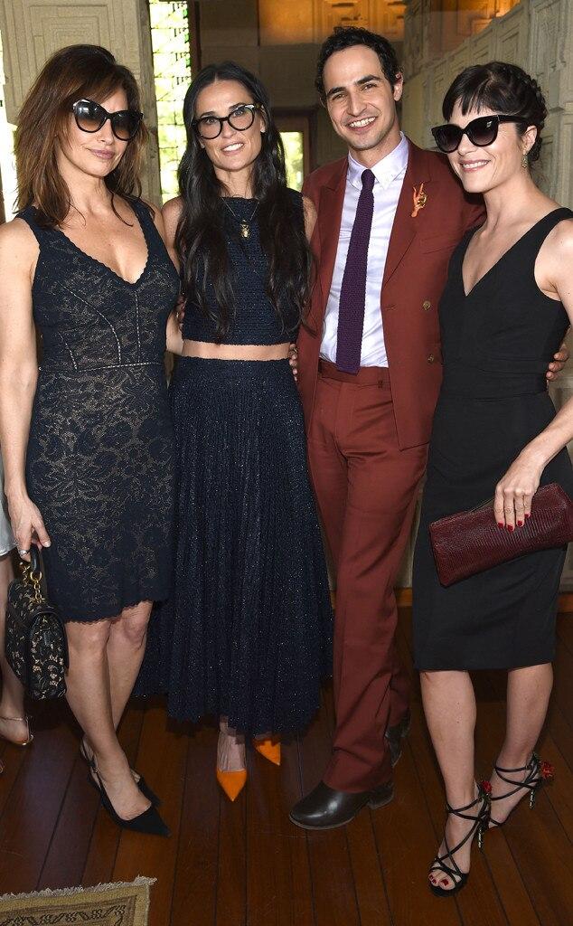 Gina Gershon, Demi Moore, Zac Posen, Selma Blair