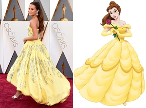 2016 Oscars, Academy Awards, Alicia Vikander, Belle, Beauty and the Beast