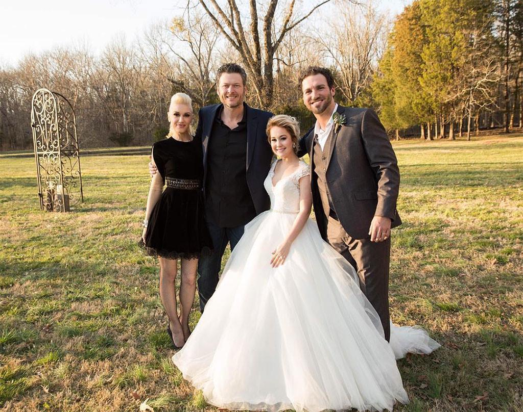 Gwen Stefani, Blake Shelton, RaeLynn, Josh Davis, Wedding