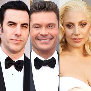 Lady Gaga, Sacha Baron Cohen, Ryan Seacrest