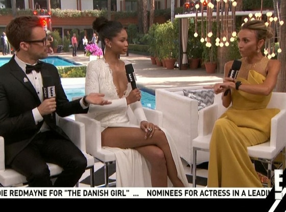 2016 Oscars, E! Countdown to the Red Carpet, Giuliana Rancic, Brad Goreski, Chanel Iman