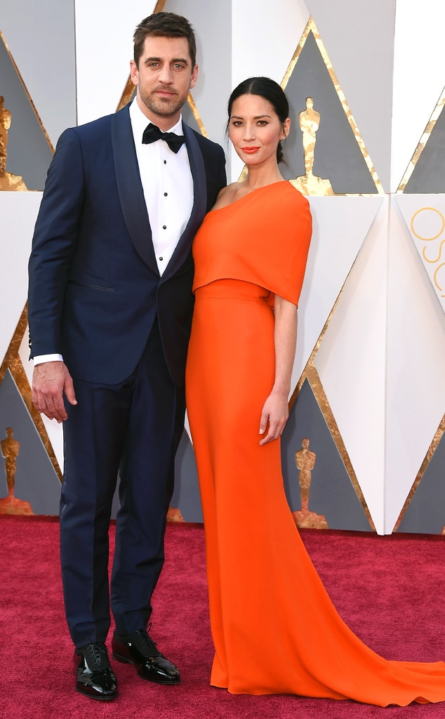 2016 Oscars, Academy Awards, Arrivals, Aaron Rodgers, Olivia Munn, Couples