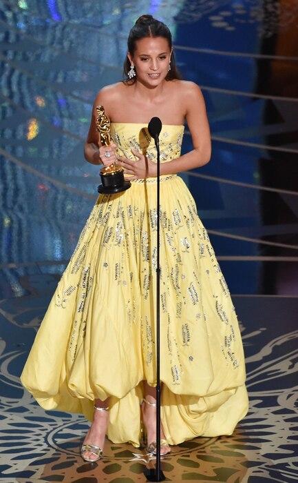 Alicia Vikander, 2016 Oscars, Academy Awards, Winners