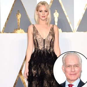 Jennifer Lawrence, 2016 Oscars, Academy Awards, Arrivals, Tim Gunn