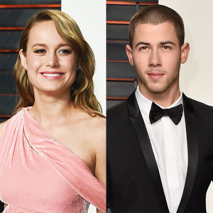 Brie Larson, Nick Jonas, 2016 Oscars