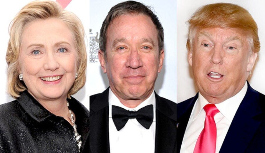 Hillary Clinton, Tim Allen, Donald Trump