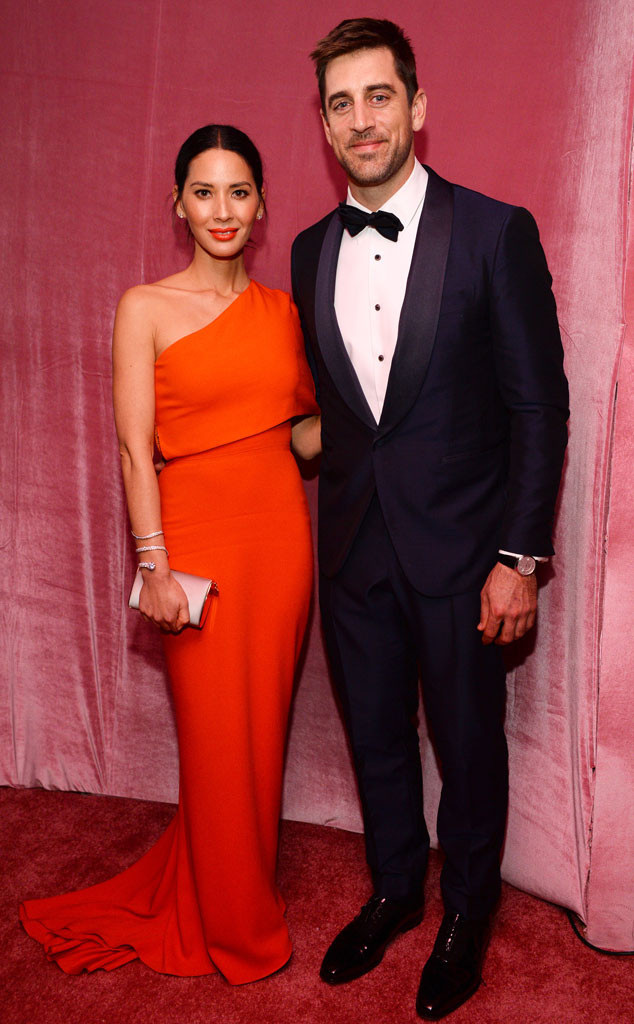 Olivia Munn, Aaron Rodgers, Oscar Party Pics