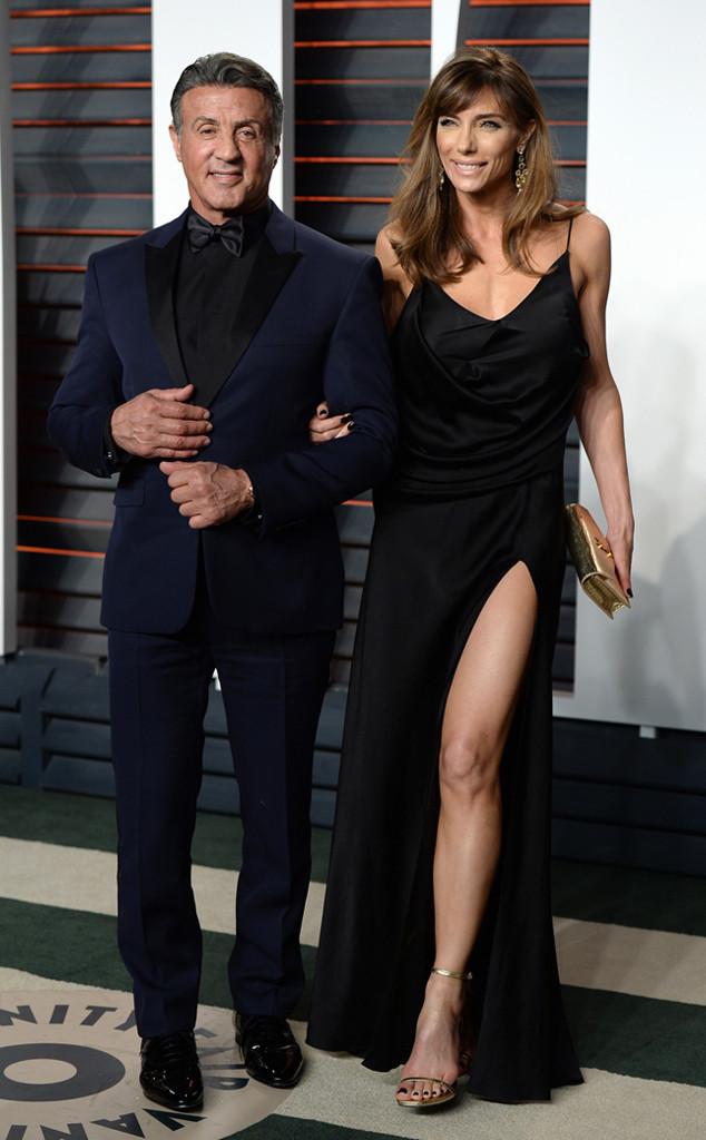 Sylvester Stallone, Jennifer Flavin, 2016 Vanity Fair Oscar Party