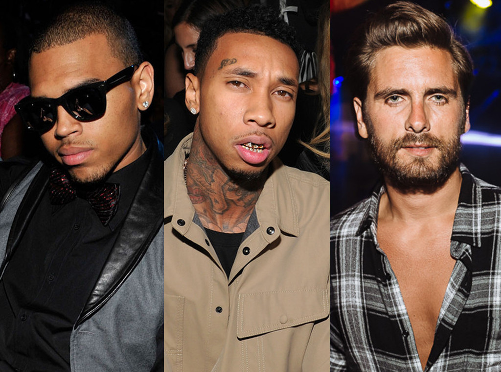 Chris Brown, Scott Disick, Tyga