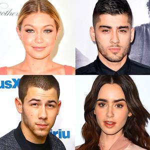 Gigi Hadid, Zayn Malik, Nick Jonas, Lily Collins