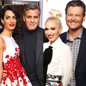 Amal Clooney, George Clooney, Gwen Stefani, Blake Shelton