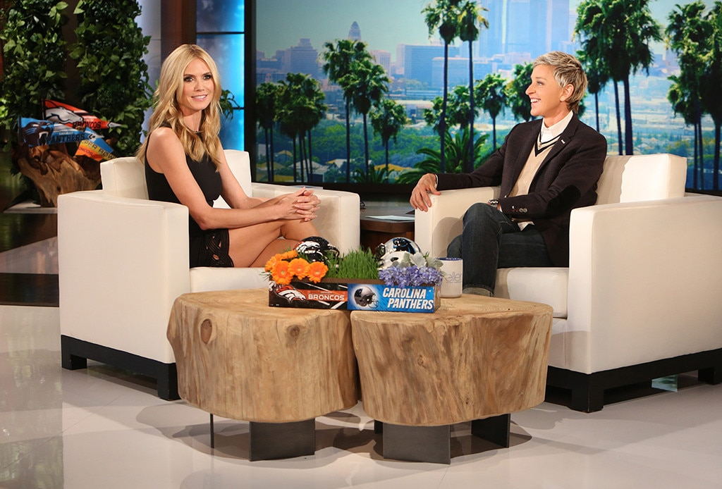 Heidi Klum, Ellen DeGeneres