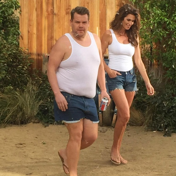 James Corden, Cindy Crawford