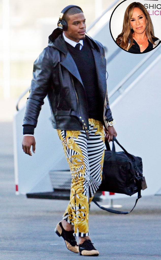 Cam Newton, Versace Pants, Melissa Rivers