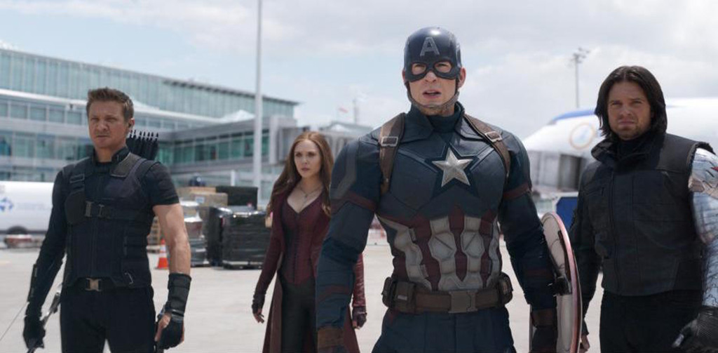 Captain America: Civil War, Jeremy Renner, Elizabeth Olsen, Chris Evans, Sebastian Stan