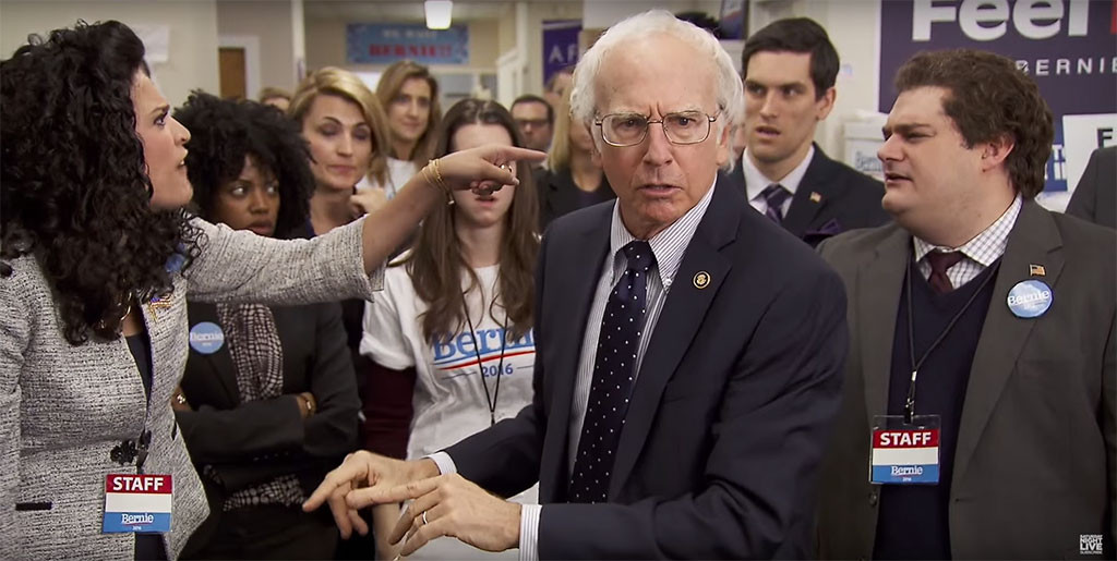 Larry David, as Bernie Sanders, SNL
