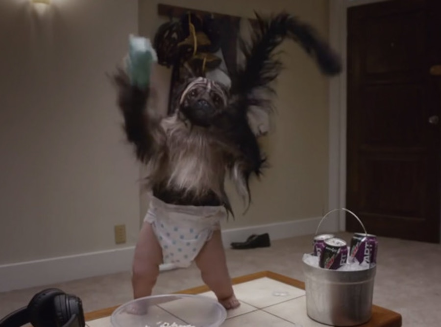 Mountain Dew, Puppy Monkey Baby, Super Bowl 2016 commercial