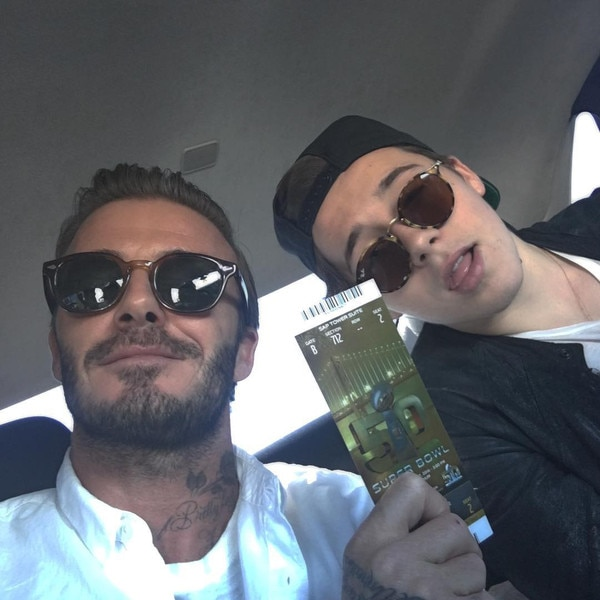 David Beckham, Brooklyn Beckham, Super Bowl 50