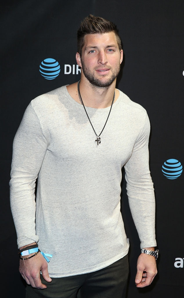 tim tebow from celebs at super bowl 2016 e news