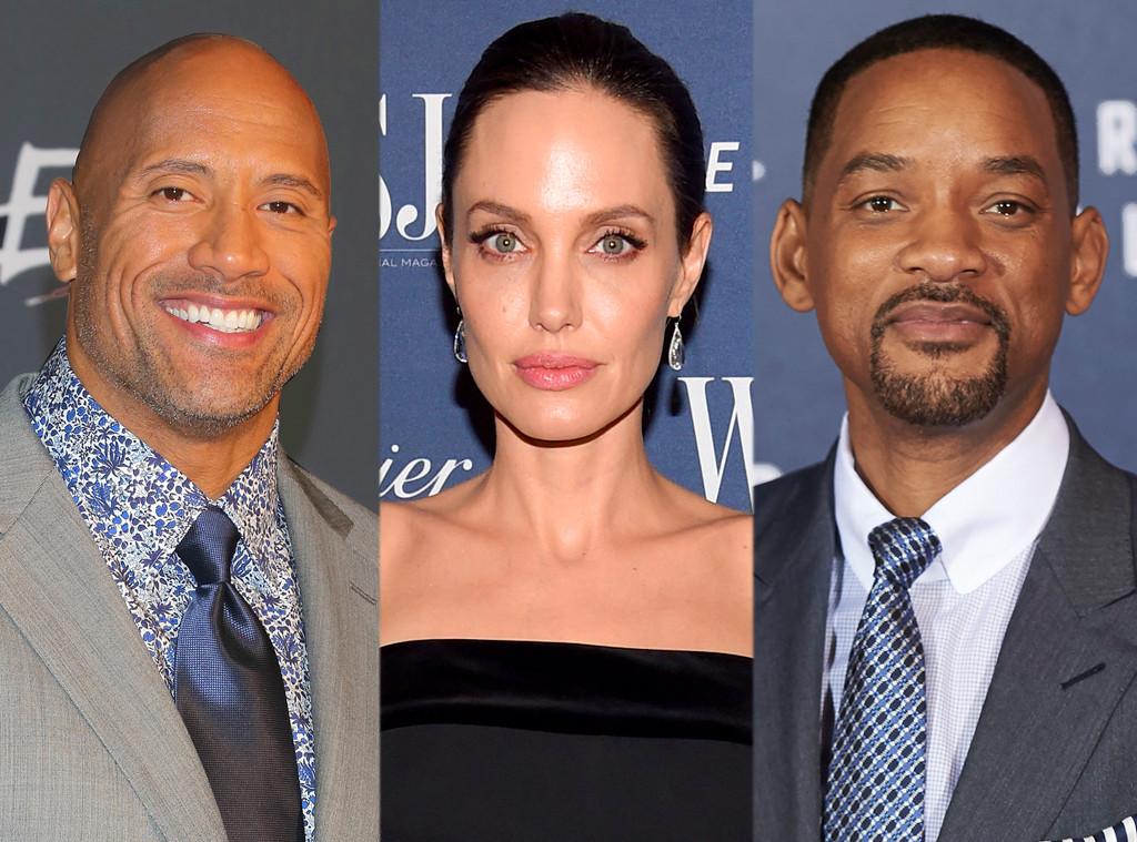 Dwayne Johnson, The Rock, Angelina Jolie, Will Smith