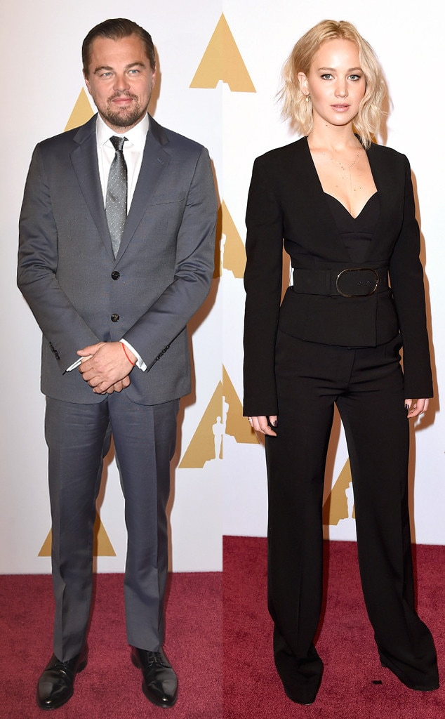 Leonardo DiCaprio, Jennifer Lawrence, Academy Awards Nominee Luncheon