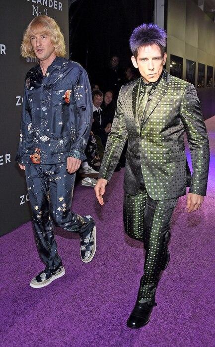 Owen Wilson, Ben Stiller, Zoolander 2 NY Premiere