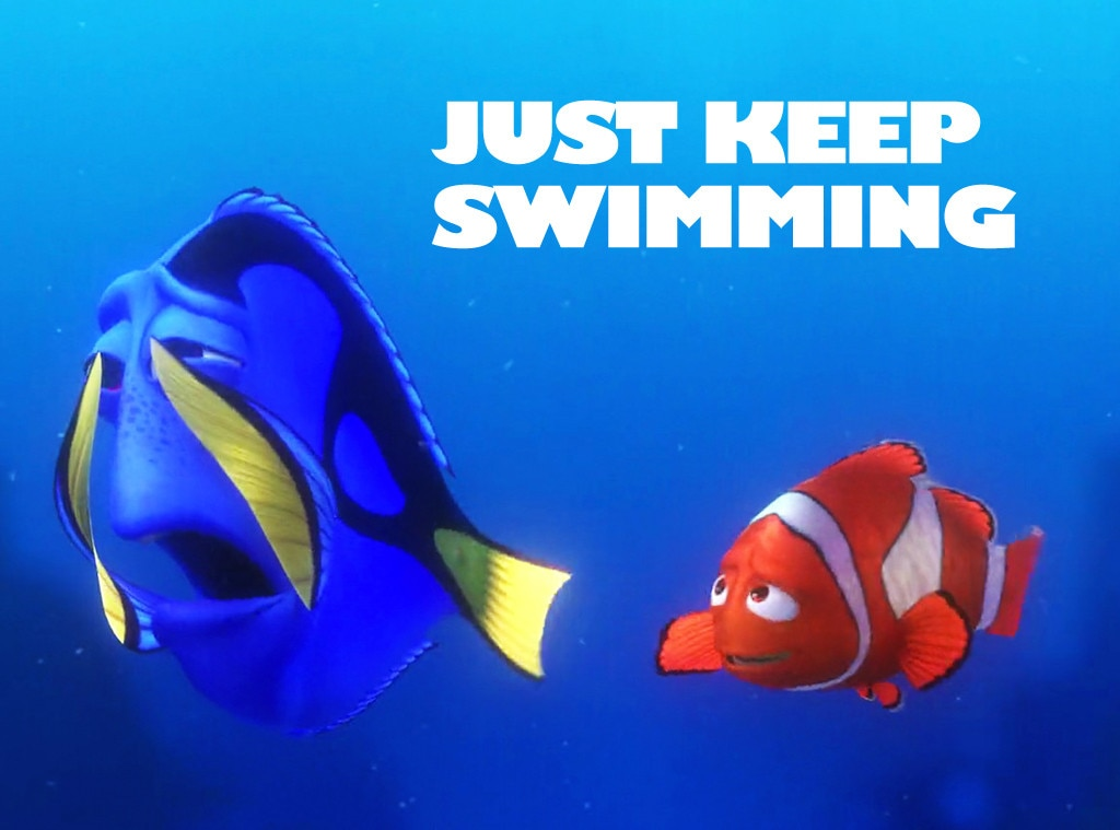Just keep swimming from finding nemo motivational posters e news finding nemo inspirational quotes thecheapjerseys Images