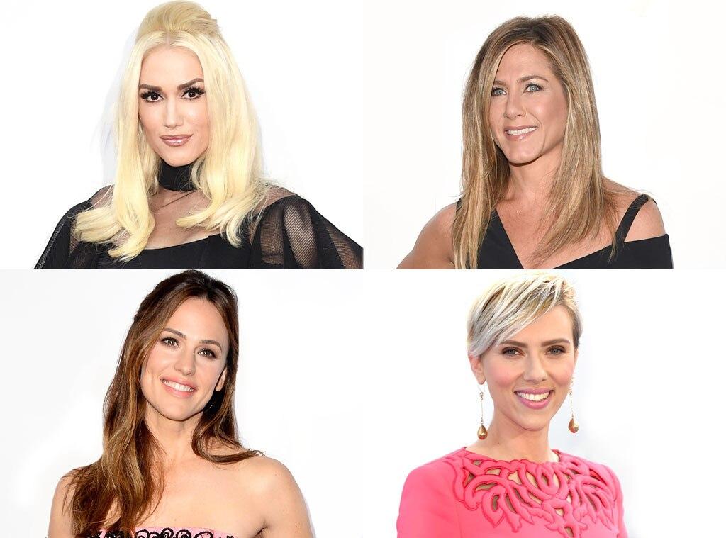 Gwen Stefani, Jennifer Aniston, Jennifer Garner, Scarlett Johansson