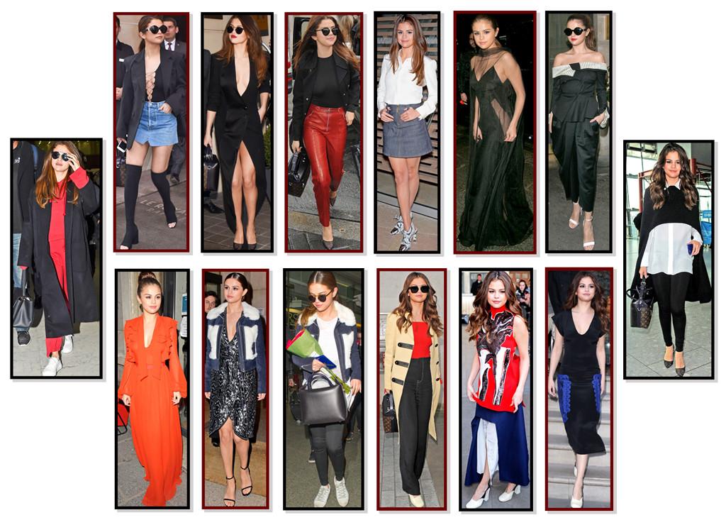 Selena Gomez, 14 Outfits, Paris, London