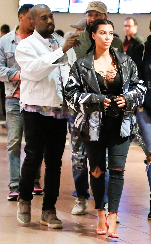 Kim Kardashian, Kanye West, Date Night