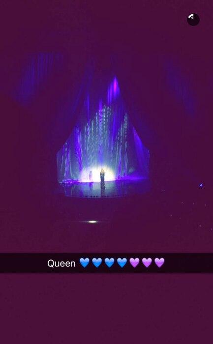 Selena Gomez, Celine Dion, Las Vegas Concert, Snapchat