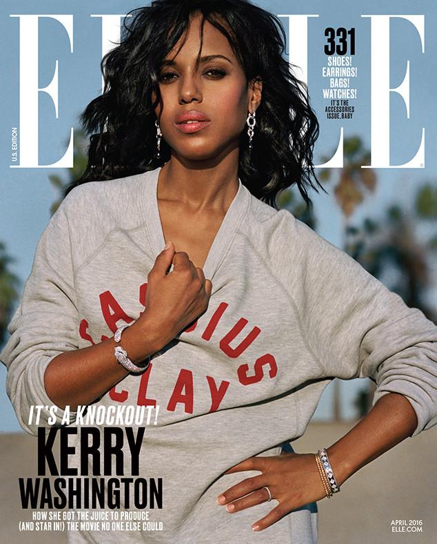 Kerry Washington, Elle Magazine