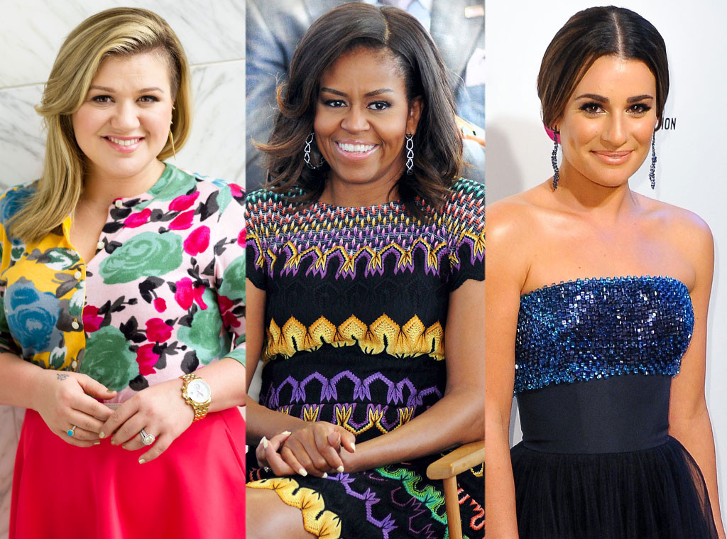 Kelly Clarkson, Michelle Obama, Lea Michele