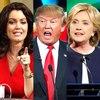 Hillary Clinton, Bellamy Young, Donald Trump